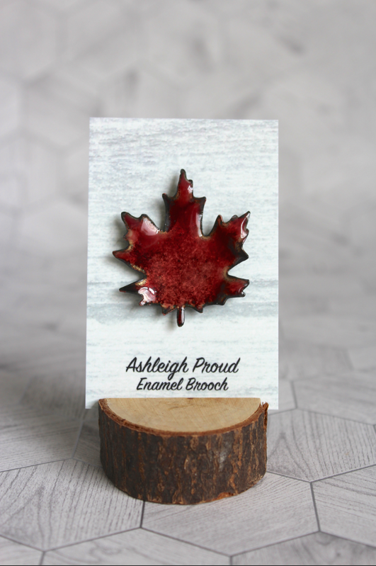 Red Maple Brooch