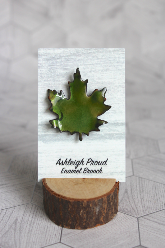 Green Maple Brooch