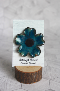 Blue Poppy Brooch