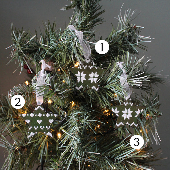 Christmas Star Decoration - Green