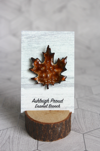 Brown Maple Brooch