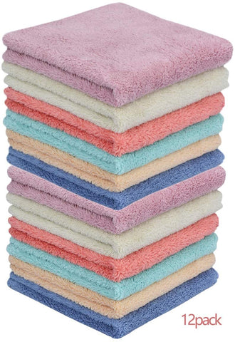 SUPER SOFT! Microfiber Cleaning Rags (12 Pack)