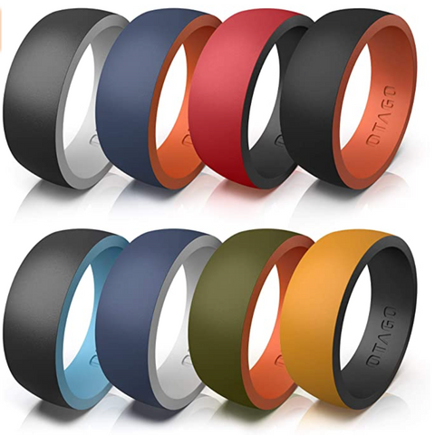 8 Silicone Rings Wedding Bands