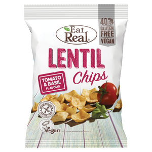 Eat Real Lentil Chips Tomato and Basil Flavour - UCSFresh