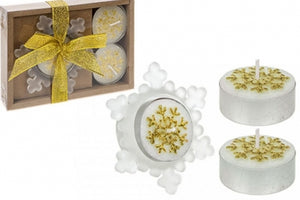 4PC Snowflake Candle and Holder - UCSFresh