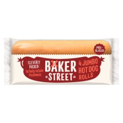 Baker Street 4 Pre-Sliced Jumbo Hot Dog Rolls - UCSFresh