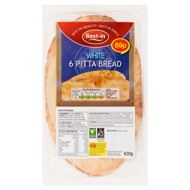 Best-in 6 White Pitta Bread 420g - UCSFresh