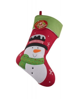 Deluxe plush red snowman Christams Stocking - UCSFresh