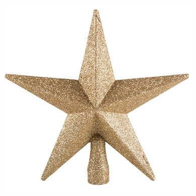 Champagne Gold Glitter Finish Tree Top Star -20cm - UCSFresh