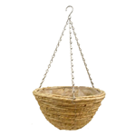Corn Rope Plastic Lined Hanging Basket 12