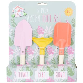 Kids Club 3 Pack Garden Tool Set - 3+ (Rake, Trowel & Spade) (4 Design Options) - UCSFresh