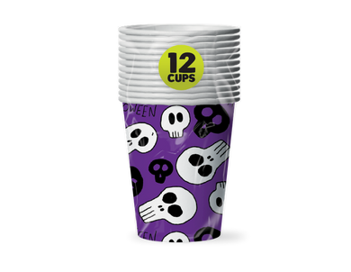 Halloween Paper Cups - 12 Pack - UCSFresh