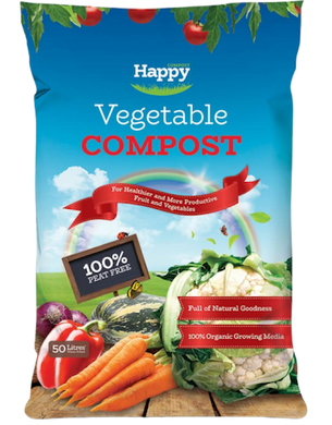 Happy Vegetable Compost (Peat Free) - 50 Ltr - UCSFresh