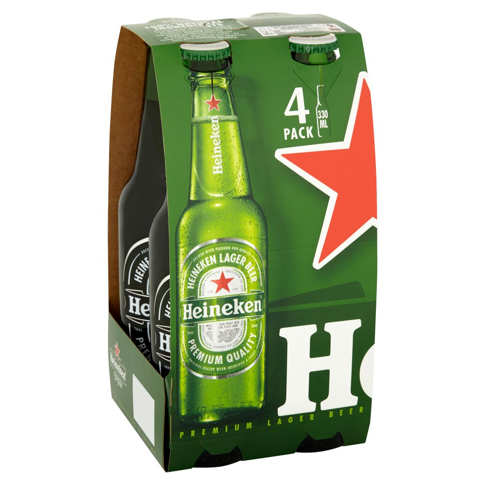 Heineken 4 x 330ml Bottles - UCSFresh