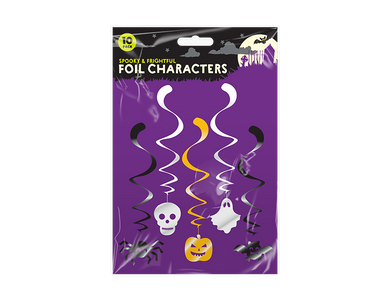 Halloween Character Swirl Decorations - 10 Pack - UCSFresh