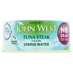 John West No Drain Tuna Steak with a little Spring Water - UCSFresh