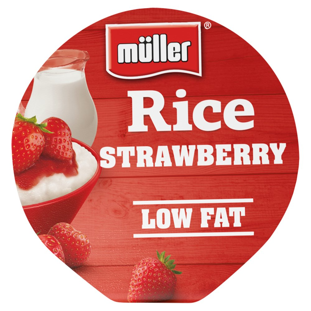 Müller Rice Strawberry Low Fat Pudding Desserts 180g - UCSFresh