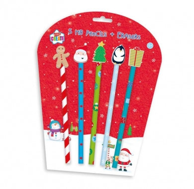 Christmas Activity Pencils and Novelty Erasers - UCSFresh