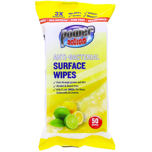 Power Action Anti Bacterial Wipes - UCSFresh