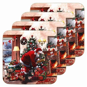 Santa With Presents Set Of 4 Coasters - UCSFresh