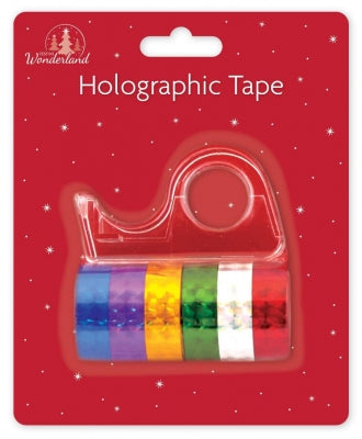 Tape Dispenser and 6 Rolls Holographic Tape - UCSFresh