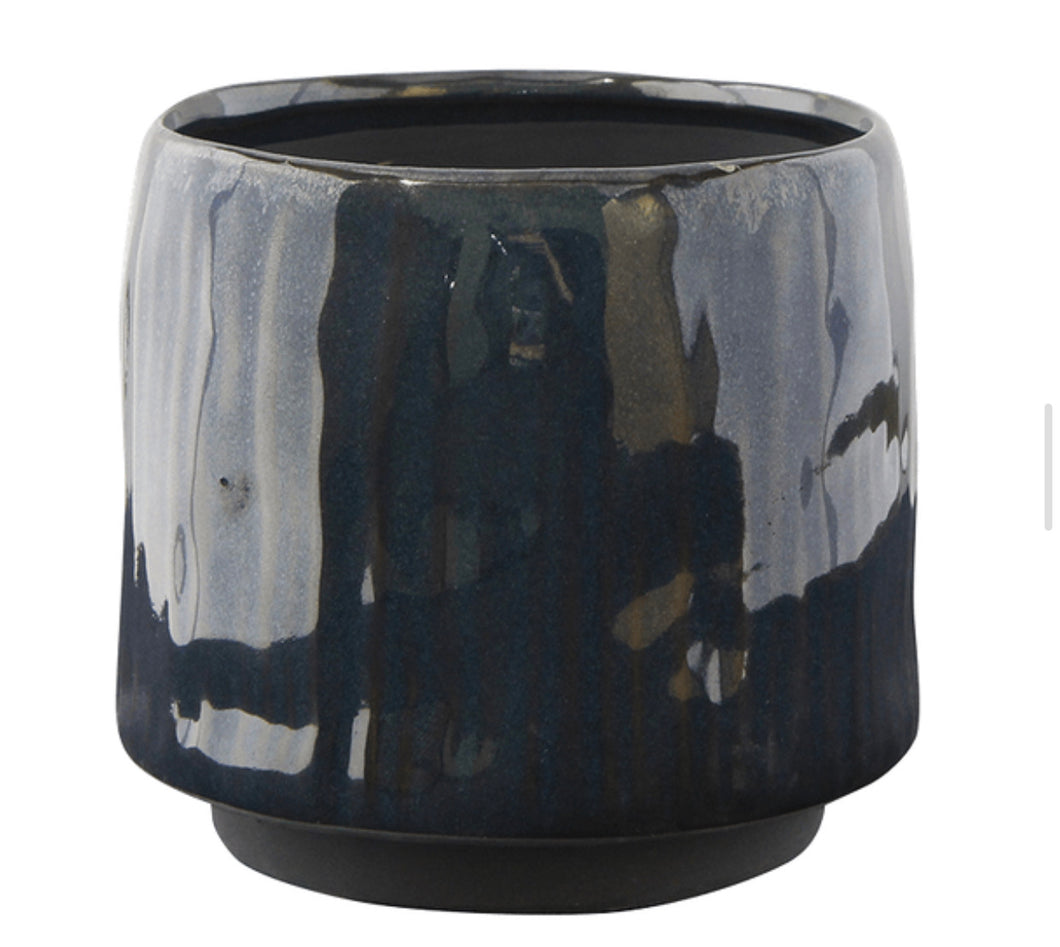 Ceramic Deep Blue Plant Pot - UCSFresh