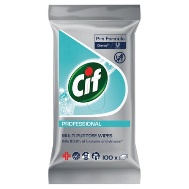 CIF Pro Formula Professional Multi Purpose Wipes 100pcs - UCSFresh