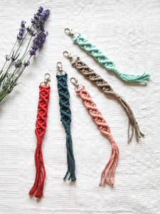Macrame keychains in many colors and sizes