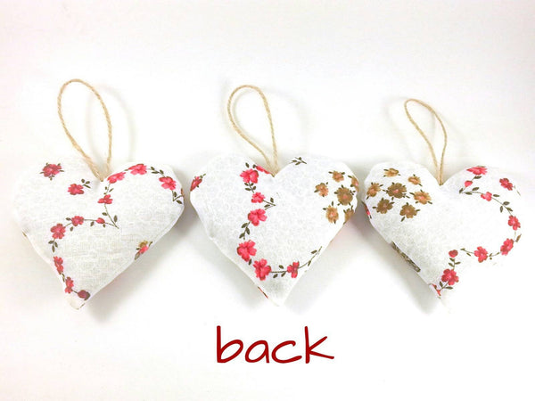 Red Lavender Heart Sachets