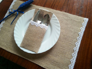 Burlap and Lace Placemats