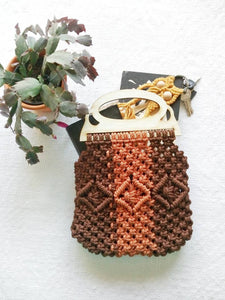 Brown Macrame Purse