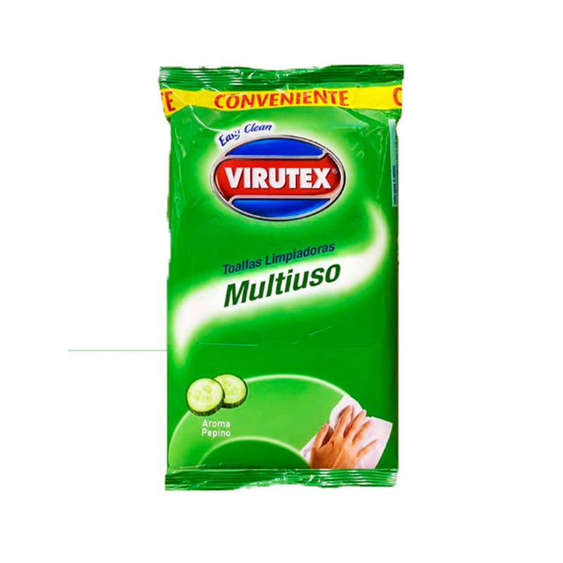 TOALLAS MULTIUSOS PEPINO 30UN - VIRUTEX