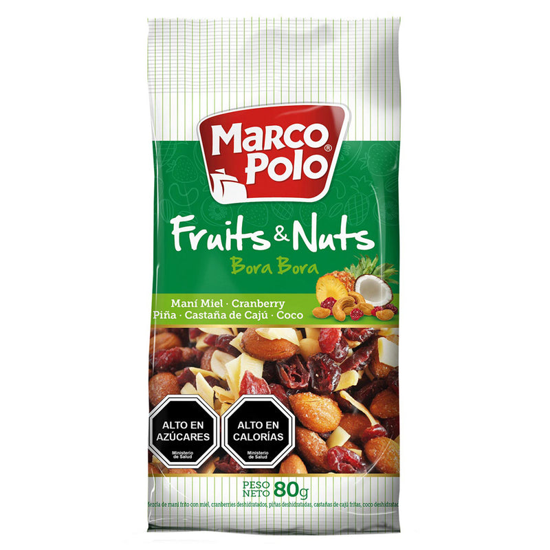 FRUITS&NUTS VERDE 80 GRS - MARCO POLO