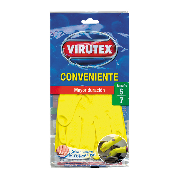GUANTES VIRUTEX CONVENIENTE AMARILLOS