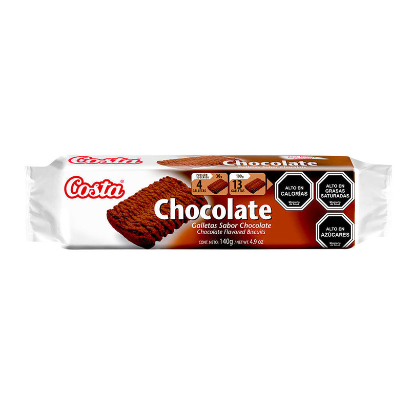 GALLETAS CHOCOLATE  140 GRS -COSTA