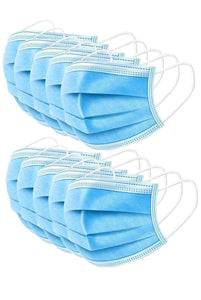 (Pack of 100) 3 Dual Fit Ear-Loop Face Mask