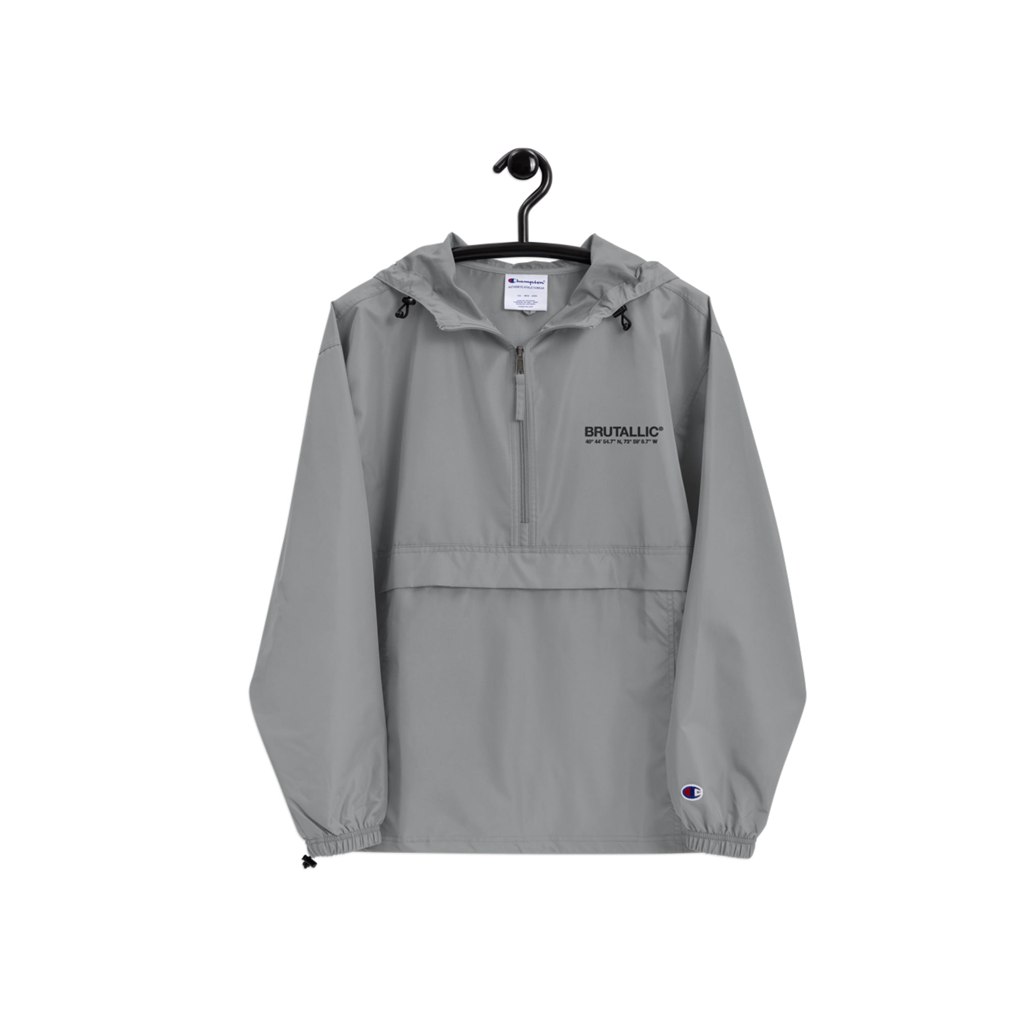 CHAMPION PACKABLE JACKET - GRAPHITE