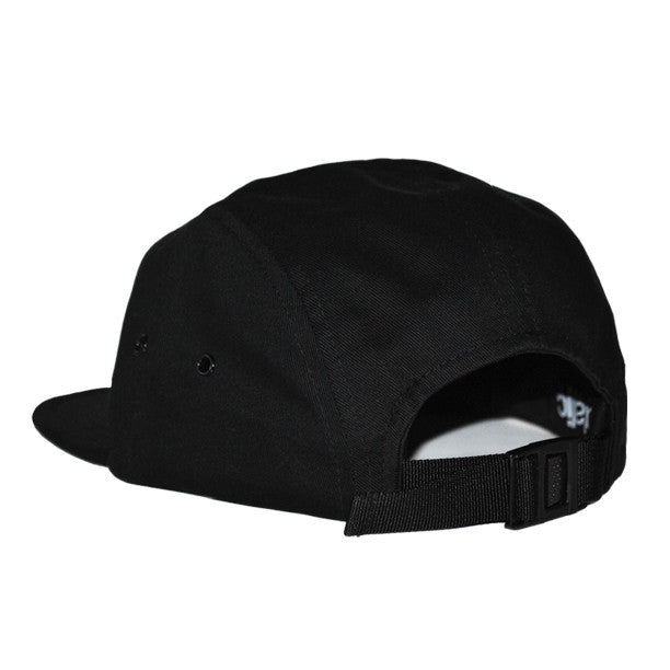 NY Jockey 5-Panel Hat (Black) - Brutallic - 3