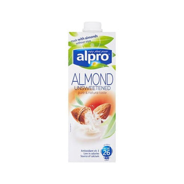 Alpro Almond Milk (Unsweetened)- 1L