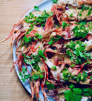 Simple Grilled Spot Prawn