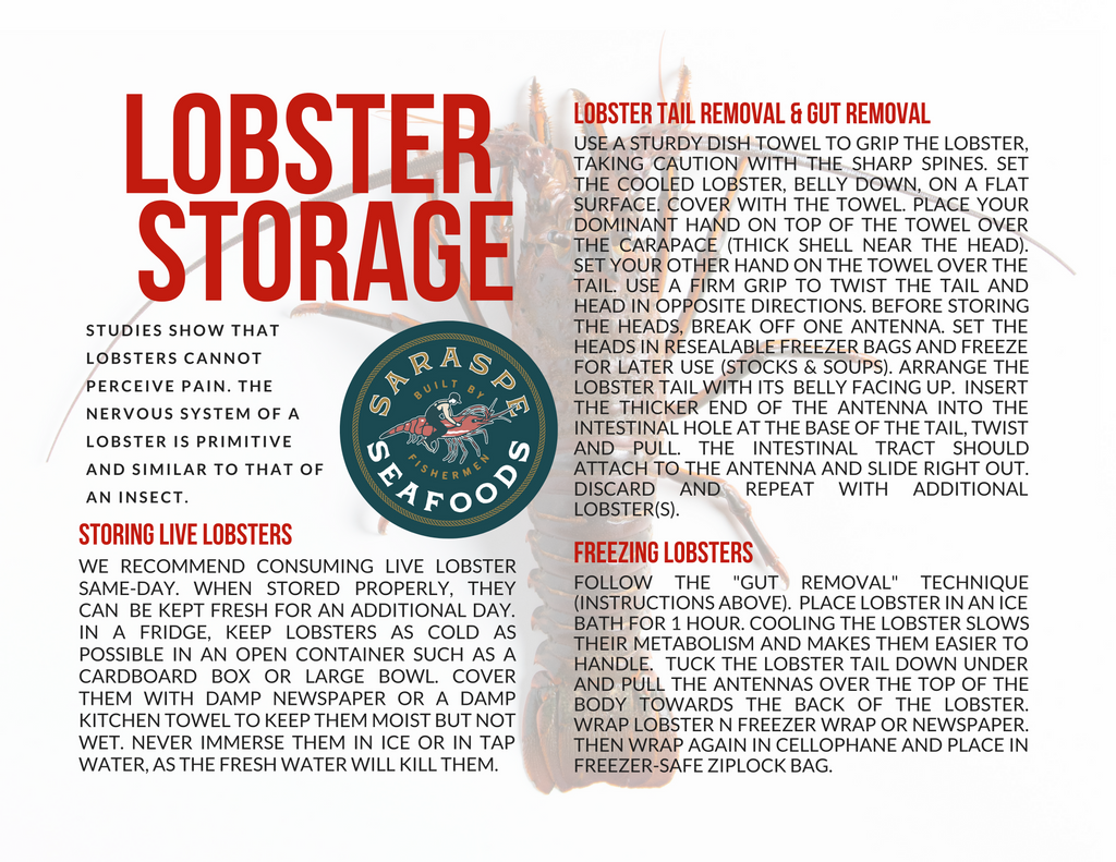 Storage Recommendations for Spiny Lobster