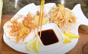 Crispy Fried Spot Prawn Heads