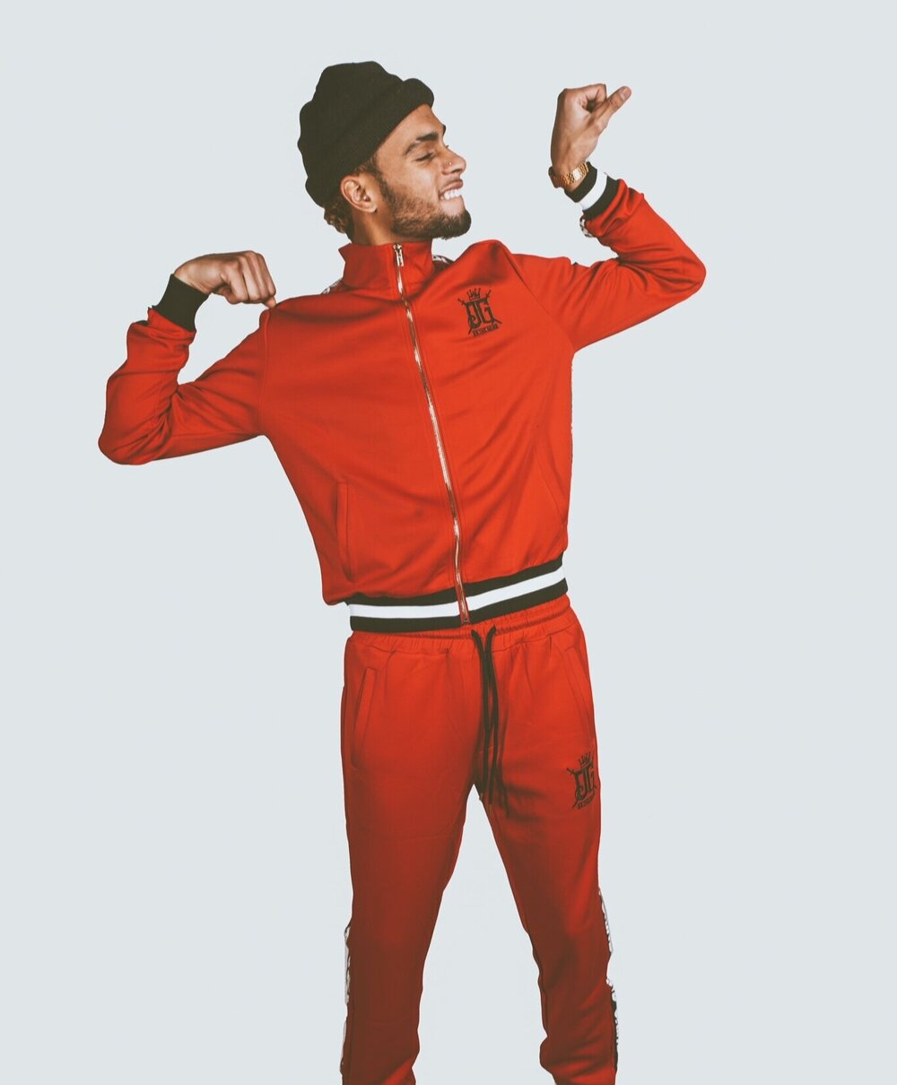 OG Red Black Grind Tracksuit - On The Grind