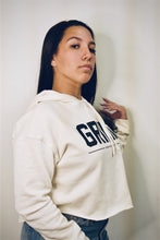 Load image into Gallery viewer, GRIND Crop Top Hoodie - Bone - On The Grind
