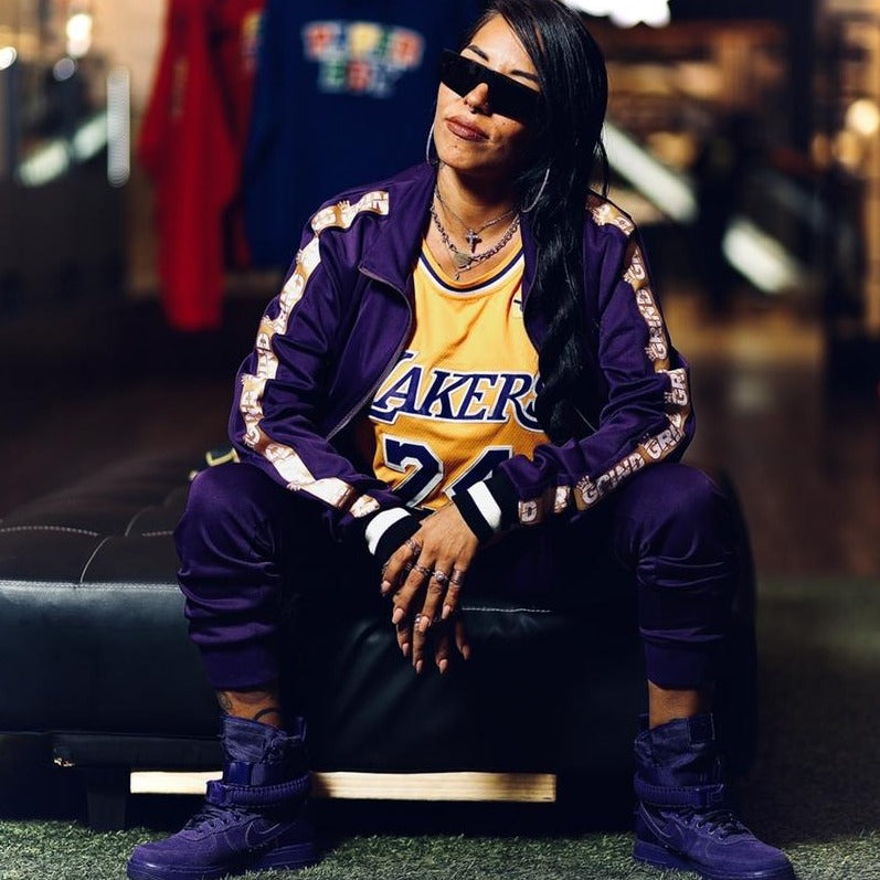 Royal Purple Grind Tracksuit Lakers Edition - On The Grind