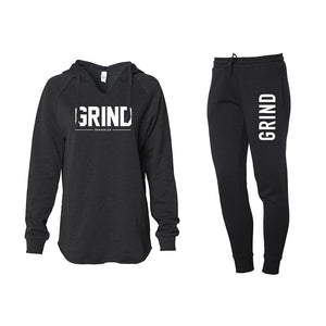 Women's GRIND Pullover & Sweatpants Set - Black