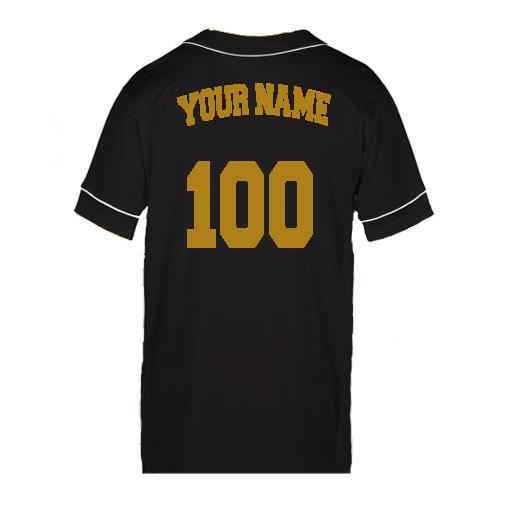 Customizable GRIND Jersey - Black/Gold - On The Grind