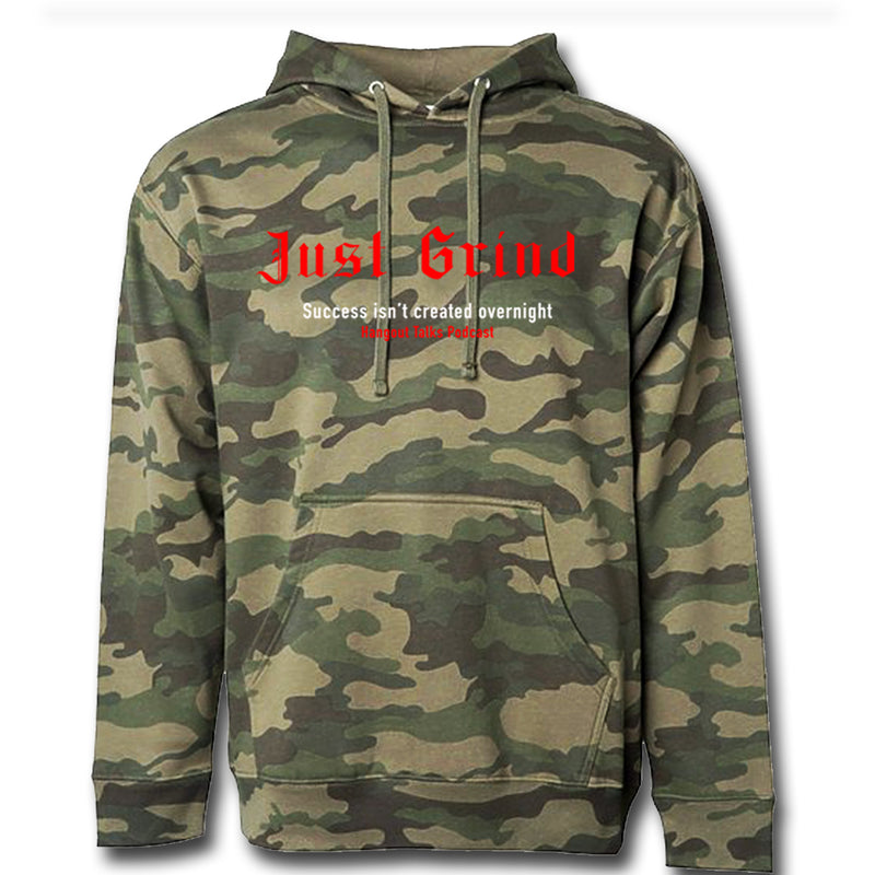 Just Grind Forest Camo Hoodie x Hangout Talks Podcast - On The Grind