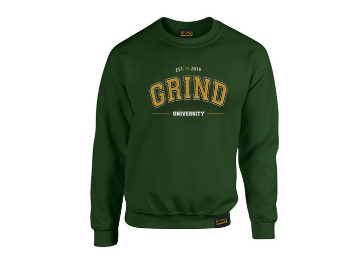 Forest Green Grind University Crewneck - On The Grind