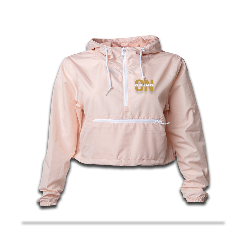 Women's Blush Grind On Everything Crop - Top Windbreaker - On The Grind